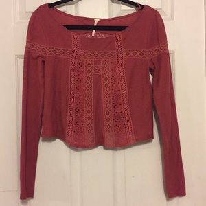 free people long sleeve with detail